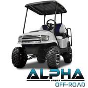 Club Car Precedent MadJax ALPHA Off Road or Street Front Cowl w/ Fascia & Headlights - White
