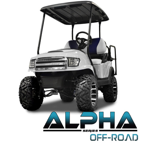 Club Car Precedent MadJax ALPHA Off Road or Street Front Cowl w/ Fascia & Headlights - White