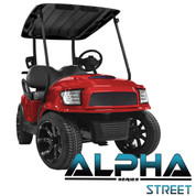 Club Car Precedent MadJax ALPHA Street Front Cowl w/ Fascia & Headlights - RED