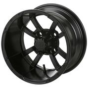 "10"" STORM TROOPER MATTE BLACK Aluminum Golf Cart Wheels - Set of 4"