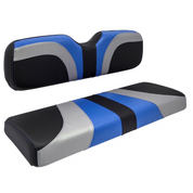 Reddot BLADE Three Tone Front Seat Covers in Blue/Black Carbon/Silver