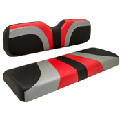 Reddot BLADE Three Tone Front Seat Covers in Red/Black Carbon/Silver