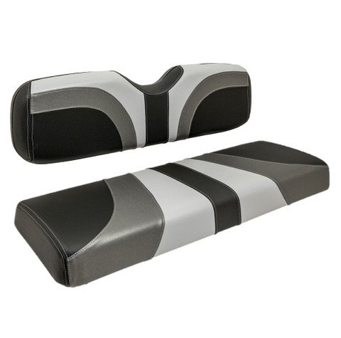Reddot BLADE Three Tone Front Seat Covers in Gray/Black Carbon/Charcoal