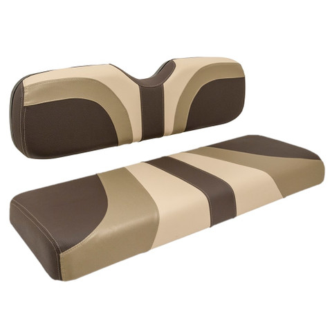 Reddot BLADE Front Golf Cart Seat Covers in Mocca/ Convoy/ Sandbar