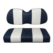Club Car Precedent Navy / White Seat Cushion Set (Fits 2004-Up)