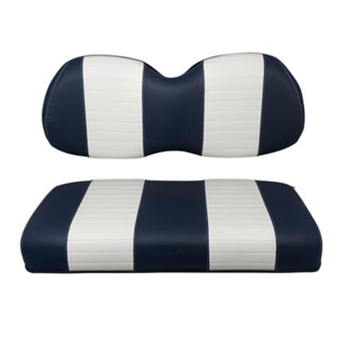 Club Car Precedent Navy / White Seat Cushion Set (Fits 2004-Up)