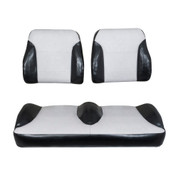 Club Car Precedent Black/Silver Suite Seats (Fits 2012-Up)