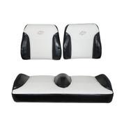 Club Car DS Black/White Suite Seats (Fits 2000-Up)