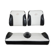 Club Car DS Black/White Suite Seats (Fits 2000-Up)