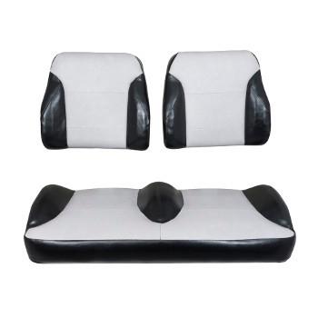 Club Car Precedent Black/Silver Suite Seats (Fits 2004-2011)