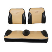 Club Car Precedent Black/Tan Suite Seats (Fits 2004-2011)