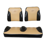Club Car Precedent Black/Tan Suite Seats (Fits 2012-Up)