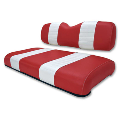 Club Car DS Red / White Seat Cushion Set (Fits 2000.5-Up)