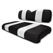 Club Car DS Black / White Seat Cushion Set (Fits 2000.5-Up)