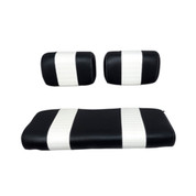 Club Car DS Black / White Seat Cushion Set (Fits 1979-1999)