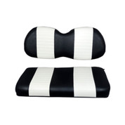 Club Car Precedent Black / White Seat Cushion Set (Fits 2004-Up)