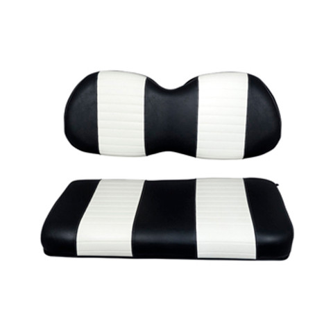 Club Car Precedent Black / White Seat Cushion Set (Fits 2004-Up)