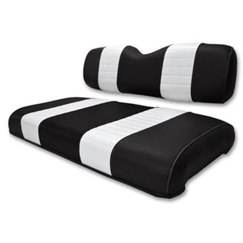 EZGO Electric Marathon Black / White Seat Cushion Set (Fits 1988-1994)