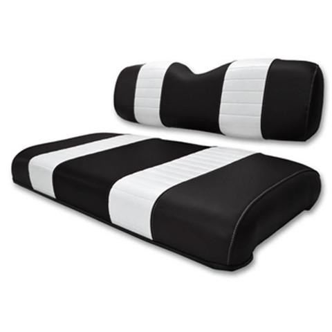 EZGO Gas Marathon Black / White Seat Cushion Set (Fits 1988-1994)