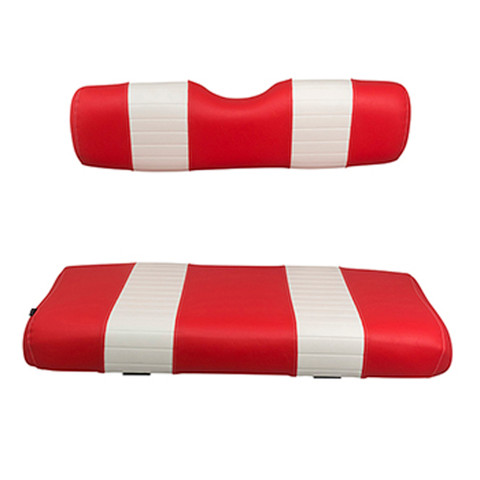 EZGO Medalist / TXT Red and White Seat Cushion Set (Fits 1994-2013)
