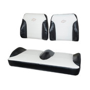 EZGO RXV Black/White Suite Seats (Fits 2008-2015)