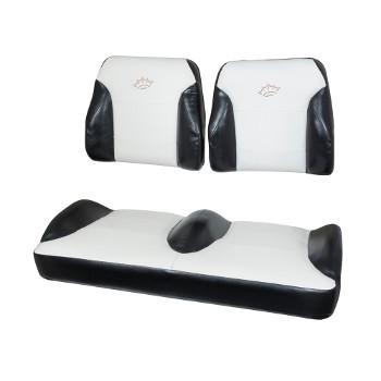 EZGO RXV Black/White Suite Seats (Fits 2008-2015)