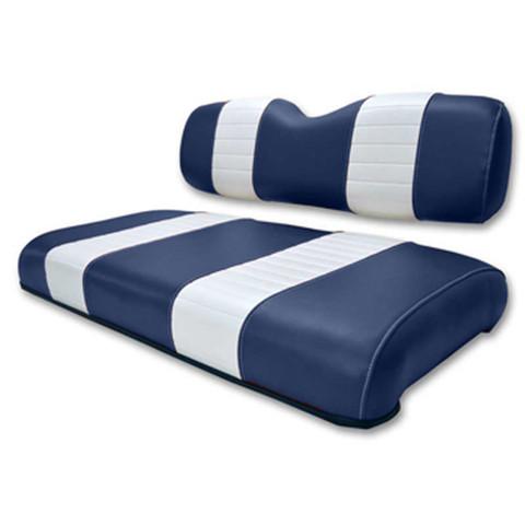 EZGO Medalist / TXT Navy and White Seat Cushion Set (Fits 1994-2013)