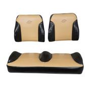 EZGO RXV Black/Tan Suite Seats (Fits 2008-2015)