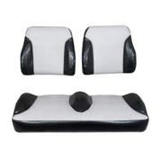 EZGO RXV Black/Silver Suite Seats (Fits 2008-2015)