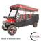 "Red Dot 3-Sided Black Sunbrella Enclosure & Valance for Club Car Precedent Triple Track 120"" Top"