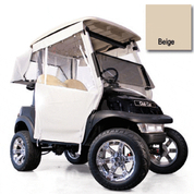 "Club Car Carryall Beige 3-Sided Track-Style Enclosure - W/ 56"" Factory Top (Fits 1992-1997)"