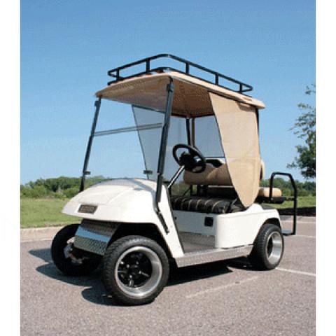 Club Car Precedent Sun Screen Kit W/Aluminum Tracks and Sand Curtains (Fits 2004-Up)