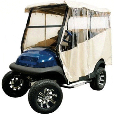 Club Car Carryall 500 Ivory 3-Sided Over-The-Top Enclosure (Fits 2014-Up)