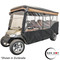 """Red Dot 3-Sided Stock Sunbrella Enclosure & Striped Valance for EZGO TXT Triple Track 120"""" Top"""