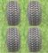 ARISUN 205/50-10 DOT Golf Cart Tires - Street Profile - Set of 4