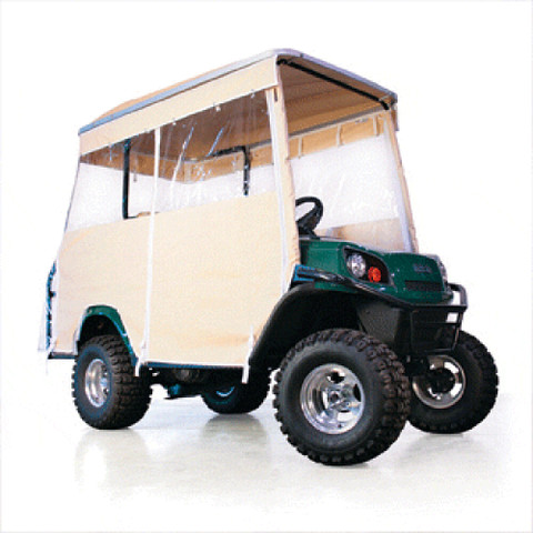 EZGO Beige 3-Sided Track Style Enclosure W/Factory Top (Fits L4/S4)
