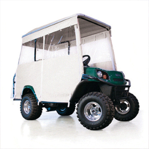 EZGO White 3-Sided Track Style Enclosure W/Factory Top (Fits L4/S4)