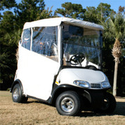 EZGO RXV White 3-sided Over-the-top Enclosure W/New Style Top (Fits 2008-Up)
