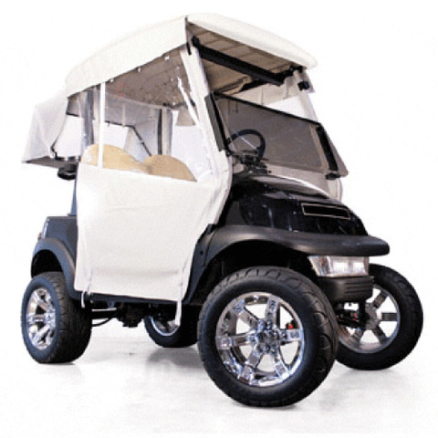 EZGO RXV White 3-Sided Over-The-Top Enclosure (Fits 2008-Up)