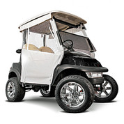 White 3-Sided Straight Back Track-Style EZGO RXV Enclosure (Fits 2008-Up)