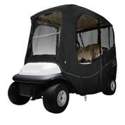 "Classic Accessories Deluxe Black 2-Passenger Golf Cart Enclosure (Universal Fit, Standard 61"" Tops)"