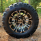 "10"" LANCER Golf Cart Wheels and 18x9-10 DOT Stinger All Terrain Golf Cart Tires Combo - Set of 4 (Fits All Carts!)"