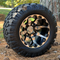 "10"" HD6 Machined/ Black Wheels and 18x9-10 DOT STINGER All Terrain Tires Combo - Set of 4"