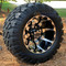 """10"""" HD6 Machined/ Black Wheels and 18x9-10 DOT STINGER All Terrain Tires Combo - Set of 4"""