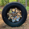 "12"" TEMPEST Machined/ Black Wheels and 23x10.5-12"" TURF Tires Combo - Set of 4"