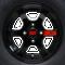 """12"""" GT Gloss Black Aluminum Golf Cart Wheels and 20x10-12 DOT All Terrain Golf Cart Tires Combo - Set of 4"""