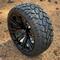 "14"" VOODOO Gloss Black Wheels and 20x8.50-14 STINGER DOT All Terrain Tires Combo - Set of 4"