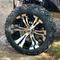 """15"""" VAMPIRE Machined/ Black Wheels and 23x10-15"""" DOT All Terrain Tires Combo - Set of 4"""