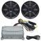 """Jensen 2x80 Watt Marine Grade Amp and BOSS 5.25"""" Speakers Bluetooth Audio Package"""