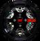"12"" GT Gloss Black Aluminum Wheels - Set of 4"
